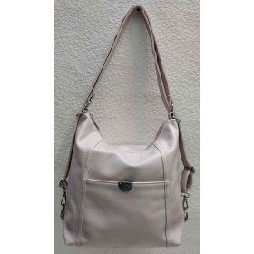 Женская сумка-рюкзак (пудра) 21-04-021
