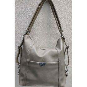 Женская сумка-рюкзак (серая) 21-04-021