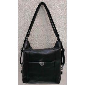 Женская сумка-рюкзак (чёрная) 21-04-021