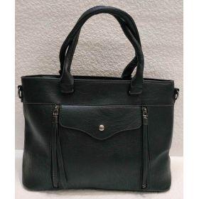 Женская сумка с карманами (чёрная) 21-04-022
