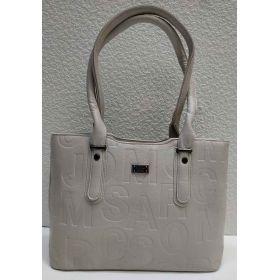 Женская сумка с тиснением (бежевая) 21-04-023