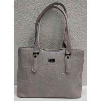 Женская сумка с тиснением (светло-серая) 21-04-023