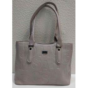 Женская сумка с тиснением (серая) 21-04-023