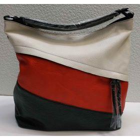 Женская комбинированная сумка (чёрная) 21-04-024