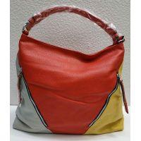 Женская комбинированная сумка (красная) 21-04-025