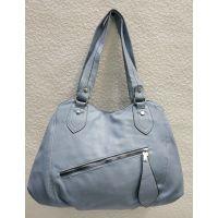 Женская сумка на два отделения (голубая) 21-04-056