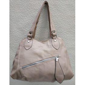 Женская сумка на два отделения (пудра) 21-04-056