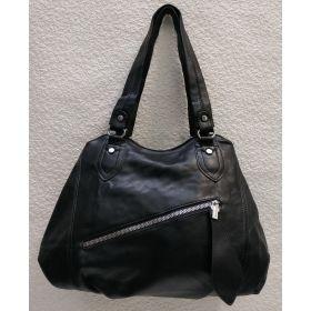 Женская сумка на два отделения (чёрная) 21-04-056