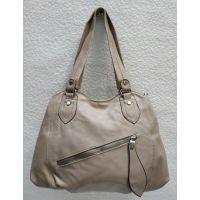 Женская сумка на два отделения (тёмно-бежевая) 21-04-056