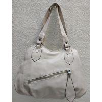 Женская сумка на два отделения (бежевая) 21-04-056
