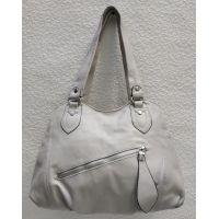 Женская сумка на два отделения (светло-серая) 21-04-056