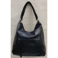 Женская сумка на два отделения (тёмно-синяя) 21-04-057