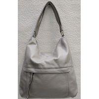 Женская сумка на два отделения (серая) 21-04-057