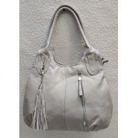 Женская сумка на два отделения (бежевая) 21-04-058