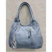 Женская сумка на два отделения (голубая) 21-04-058