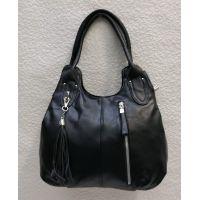 Женская сумка на два отделения (чёрная) 21-04-058
