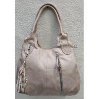 Женская сумка на два отделения (пудра) 21-04-058
