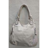Женская сумка на два отделения (молочная) 21-04-059