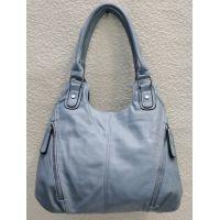 Женская сумка на два отделения (голубая) 21-04-059