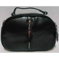 Женская кожаная сумка кросс-боди Alex Rai (чёрная) 21-05-015