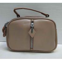 Женская кожаная сумка кросс-боди Alex Rai (тёмная пудра) 21-05-015