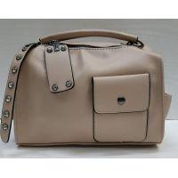 Женский клатч -сумка (пудровый) 21-06-092
