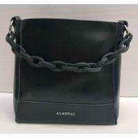 Женская кожаная сумочка-клатч Alex Rai (чёрная) 21-06-103