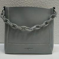 Женская кожаная сумочка-клатч Alex Rai (серая) 21-06-103