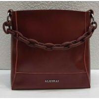 Женская кожаная сумочка-клатч Alex Rai (бордовая) 21-06-103