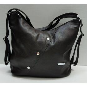 Женская сумка-рюкзак   (шоколадная) 21-09-005