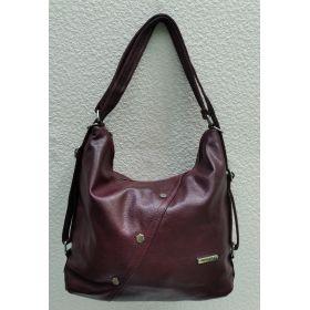 Женская сумка-рюкзак   (бордовая) 21-09-005