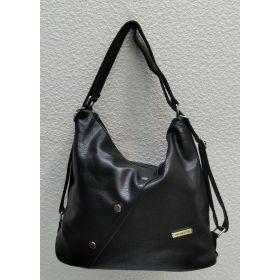 Женская сумка-рюкзак   (чёрная) 21-09-005