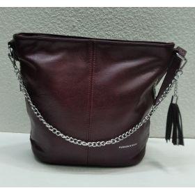 Женская  сумка кросс-боди  (бордовая) 21-09-007