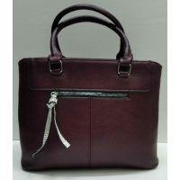 Женская сумка с брелком со стразами  (бордовая) 21-09-029