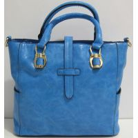 Женская глянцевая сумка (голубая) 17-01-035