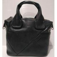Женская кожаная сумка (чёрная) 20-10-001