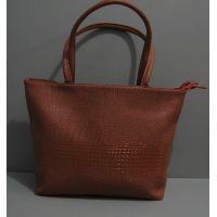 Женская большая стильная сумка (рыжая) 16-06-015