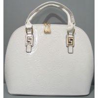 Женская лаковая сумка с узором  17-3-092