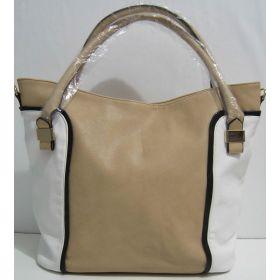 Вместительная комбинированная сумка (хаки с белыми вставками) 17-05-077