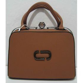 Стильная каркасная сумка Gernas (коричневая) 17-08-035