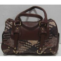 Женская комбинированная сумка (коричневая) 18-02-001