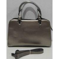 Классическая кожаная сумка (серебрянная) 18-02-029