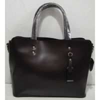 Женская кожаная сумка (шокаладная)18-04-048