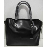 Женская кожаная сумка (чёрная)18-04-048