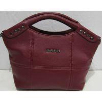 Женская сумка-клатч (бордовая) 18-04-050