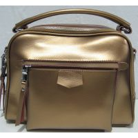 Кожаная сумка кросс-боди (золотая) 18-06-147