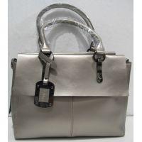 Женская кожаная сумка  (серебряная)  18-11-002
