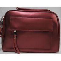Женская кожаная сумка кросс-боди (красная перламутровая) 18-11-004