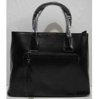 Женский кожаная сумка (чёрная) 18-11-007