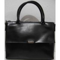 Женский кожаная сумка (чёрная) 18-11-009